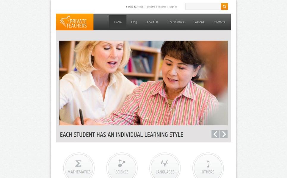 Oktatási  Drupal sablon New Screenshots BIG