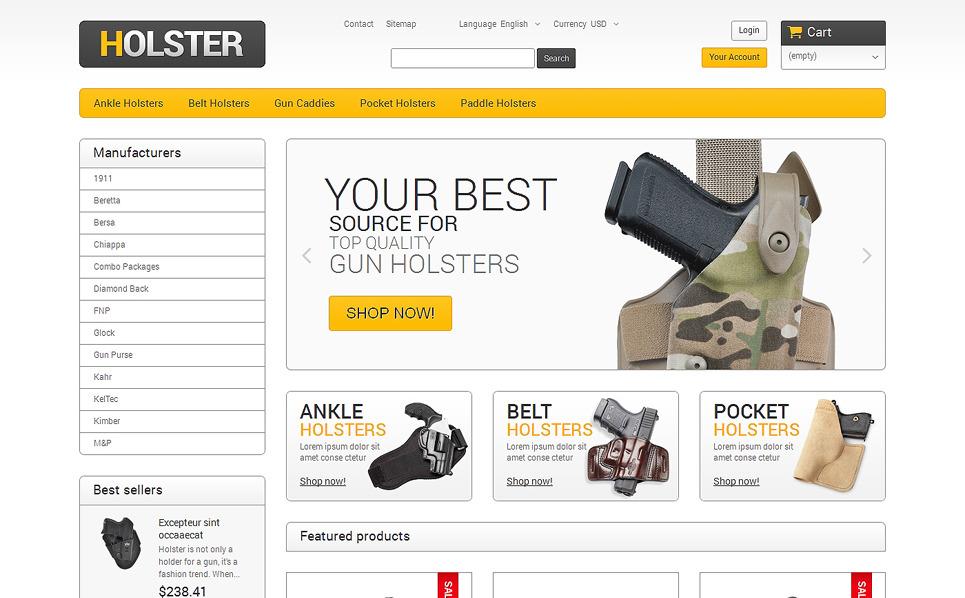 Адаптивний PrestaShop шаблон на тему магазин зброї New Screenshots BIG