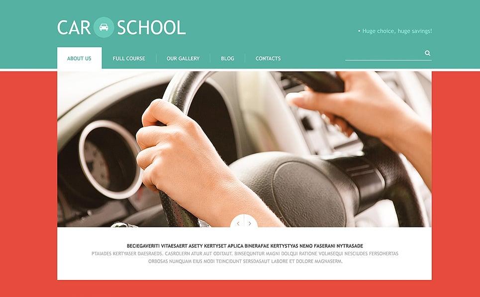 Reszponzív Autósiskolák WordPress sablon New Screenshots BIG