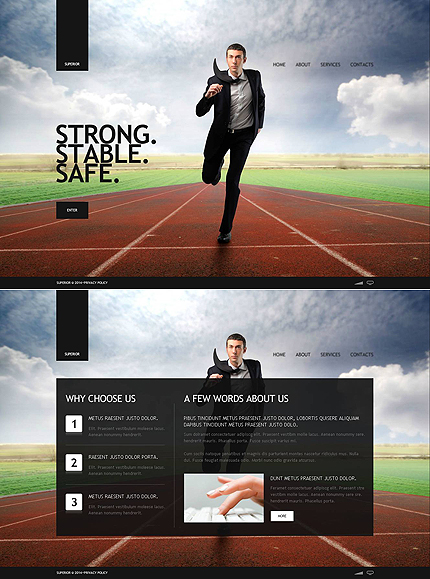 ADOBE Photoshop Template 48253 Home Page Screenshot