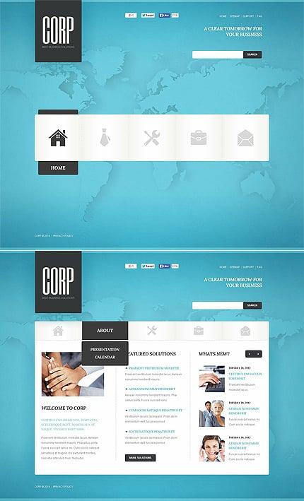 ADOBE Photoshop Template 48254 Home Page Screenshot