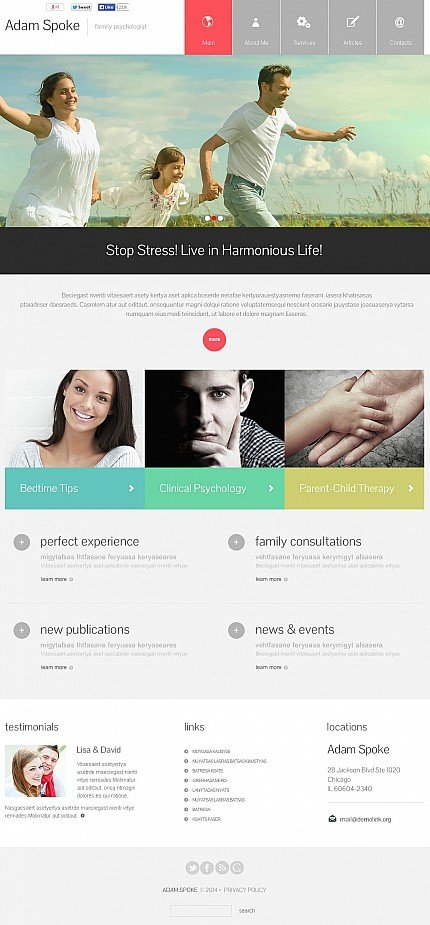 ADOBE Photoshop Template 48256 Home Page Screenshot