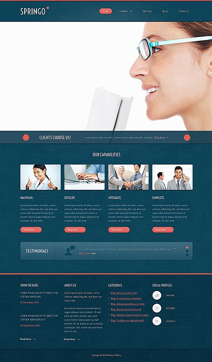 Joomla Theme/Template 48262 Main Page Screenshot