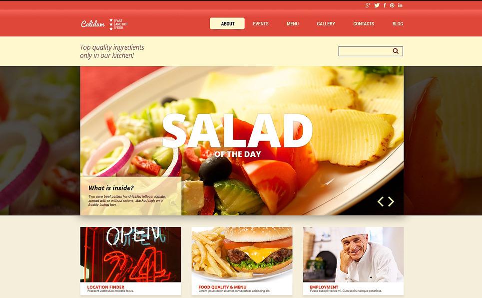 Responsive Fast Food Restaurant Templates Joomla Şablonu New Screenshots BIG