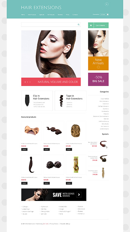 ZenCart Template 48267 Main Page Screenshot