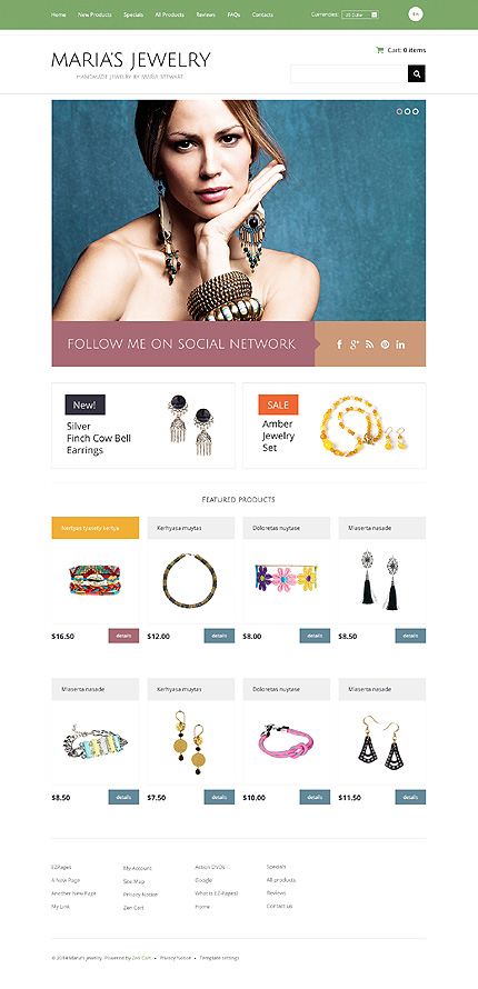 ZenCart Template 48268 Main Page Screenshot