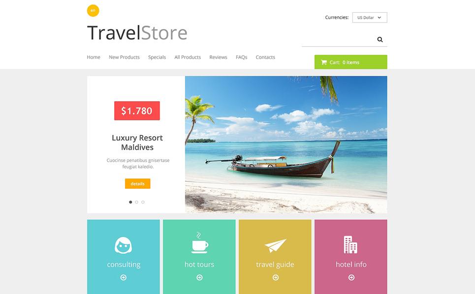 Szablon ZenCart #48269 na temat: sklep podróżnika New Screenshots BIG