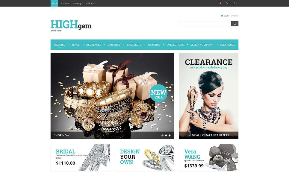 Responsywny szablon PrestaShop Premium biżuteria #48270 New Screenshots BIG