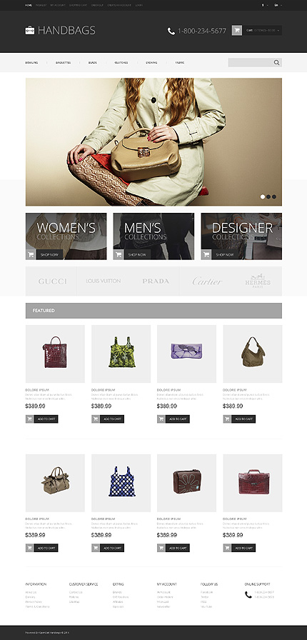 ADOBE Photoshop Template 48271 Home Page Screenshot
