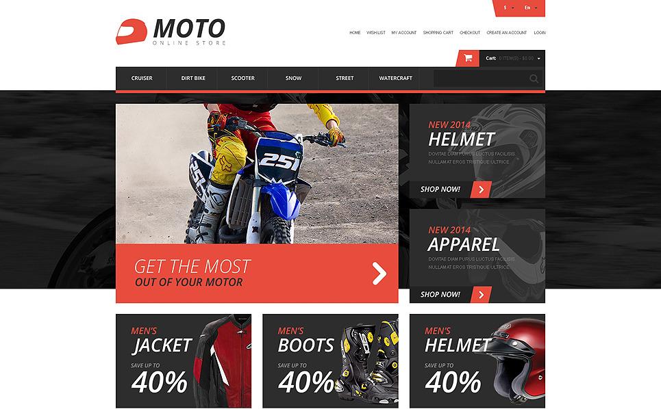Plantilla OpenCart Responsive para Sitio de Deportes de motor New Screenshots BIG
