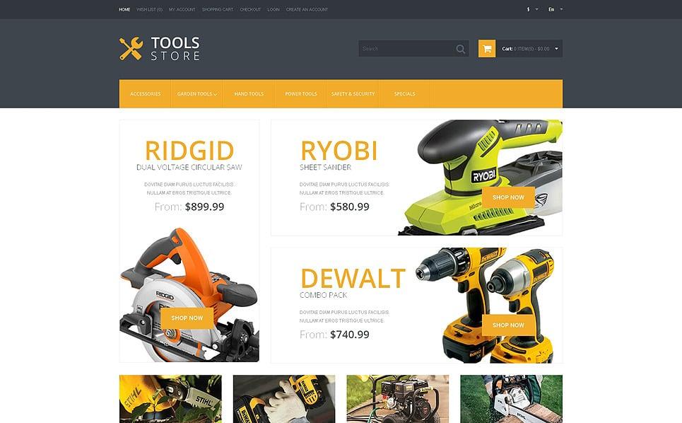 Reszponzív Eszközök és berendezések OpenCart sablon New Screenshots BIG
