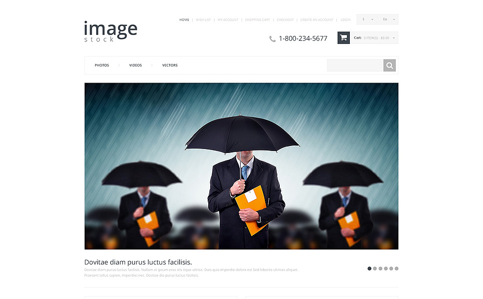 Responsive OpenCart Template over Stockfoto's New Screenshots BIG