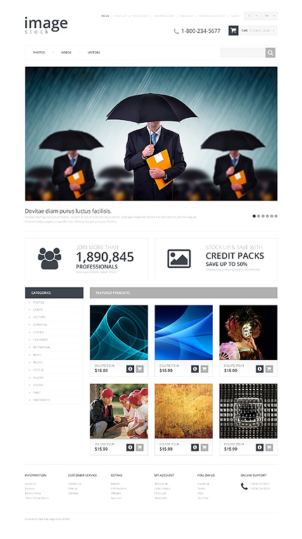ADOBE Photoshop Template 48275 Home Page Screenshot
