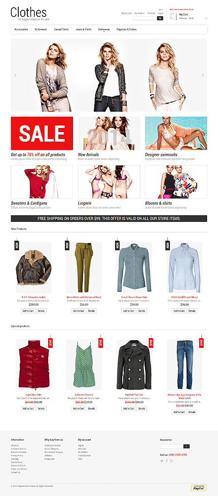 Magento Theme/Template 48279 Main Page Screenshot