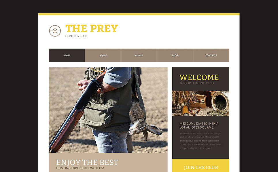 Responsive Website Vorlage für Jagd  New Screenshots BIG