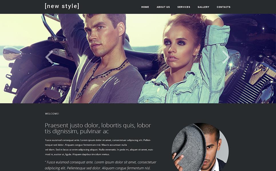 Responzivní Šablona webových stránek na téma Módní blog New Screenshots BIG