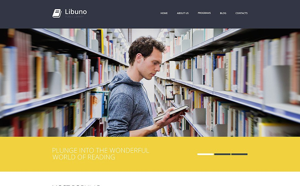 Responsive Website template over Bibliotheek  New Screenshots BIG