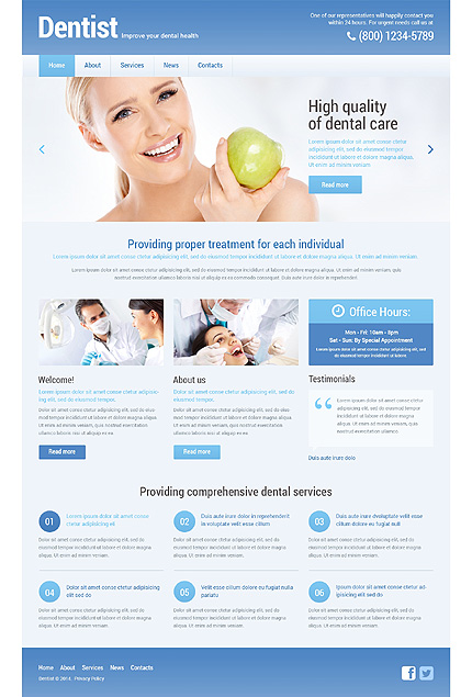 WordPress Theme/Template 48295 Main Page Screenshot