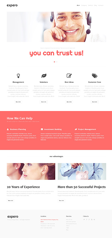 WordPress Theme/Template 48296 Main Page Screenshot