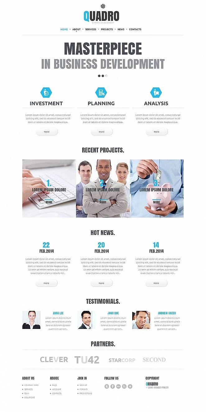 Accounting Website Moto CMS HTML Template New Screenshots BIG