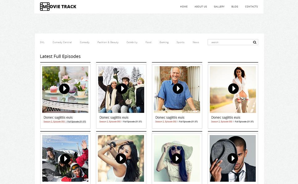 Адаптивний WordPress шаблон на тему відеооператор New Screenshots BIG