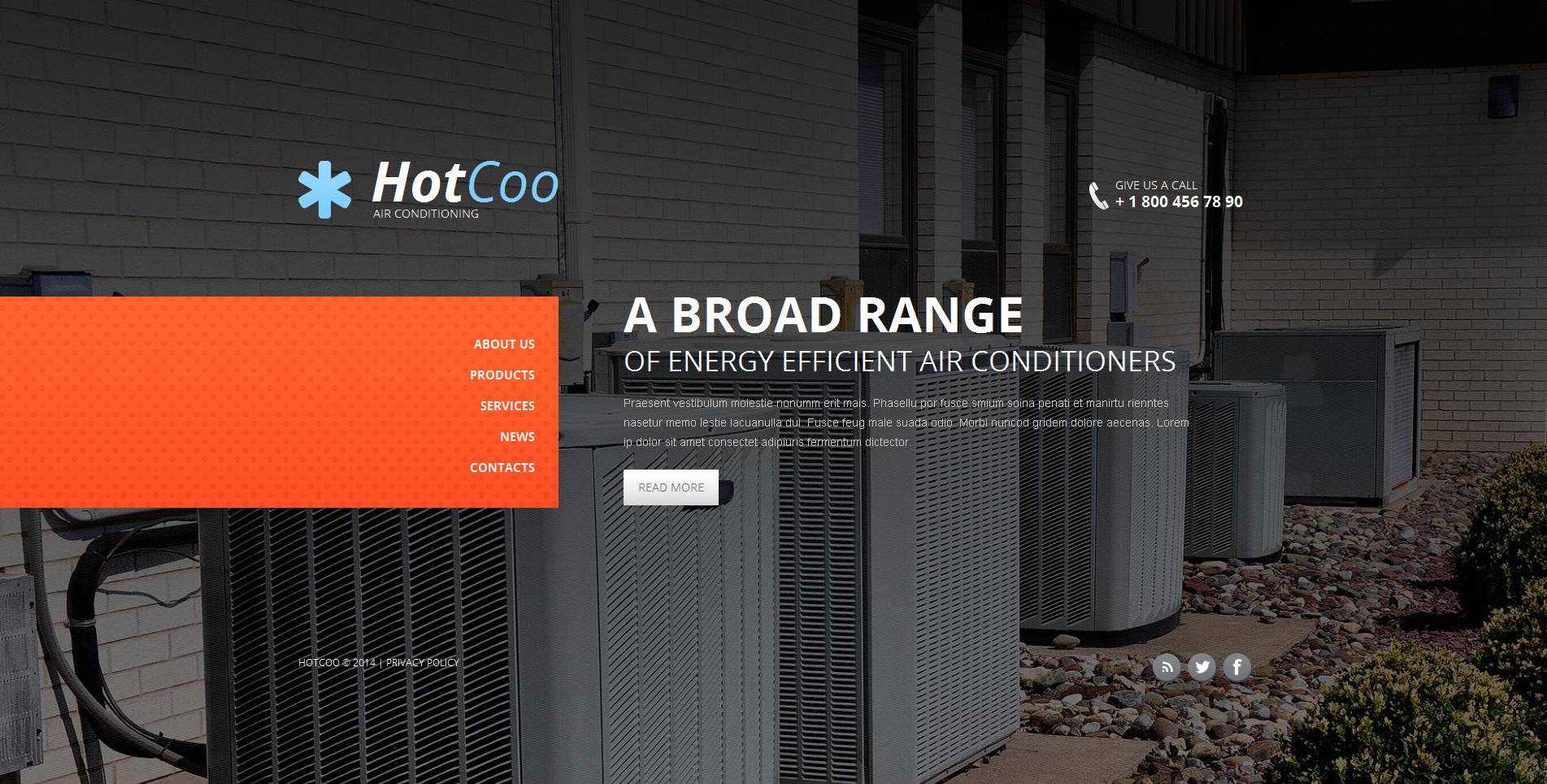 Air Conditioning Moto CMS HTML Template