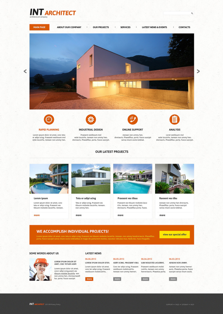 Architectural Agency Joomla Template New Screenshots BIG