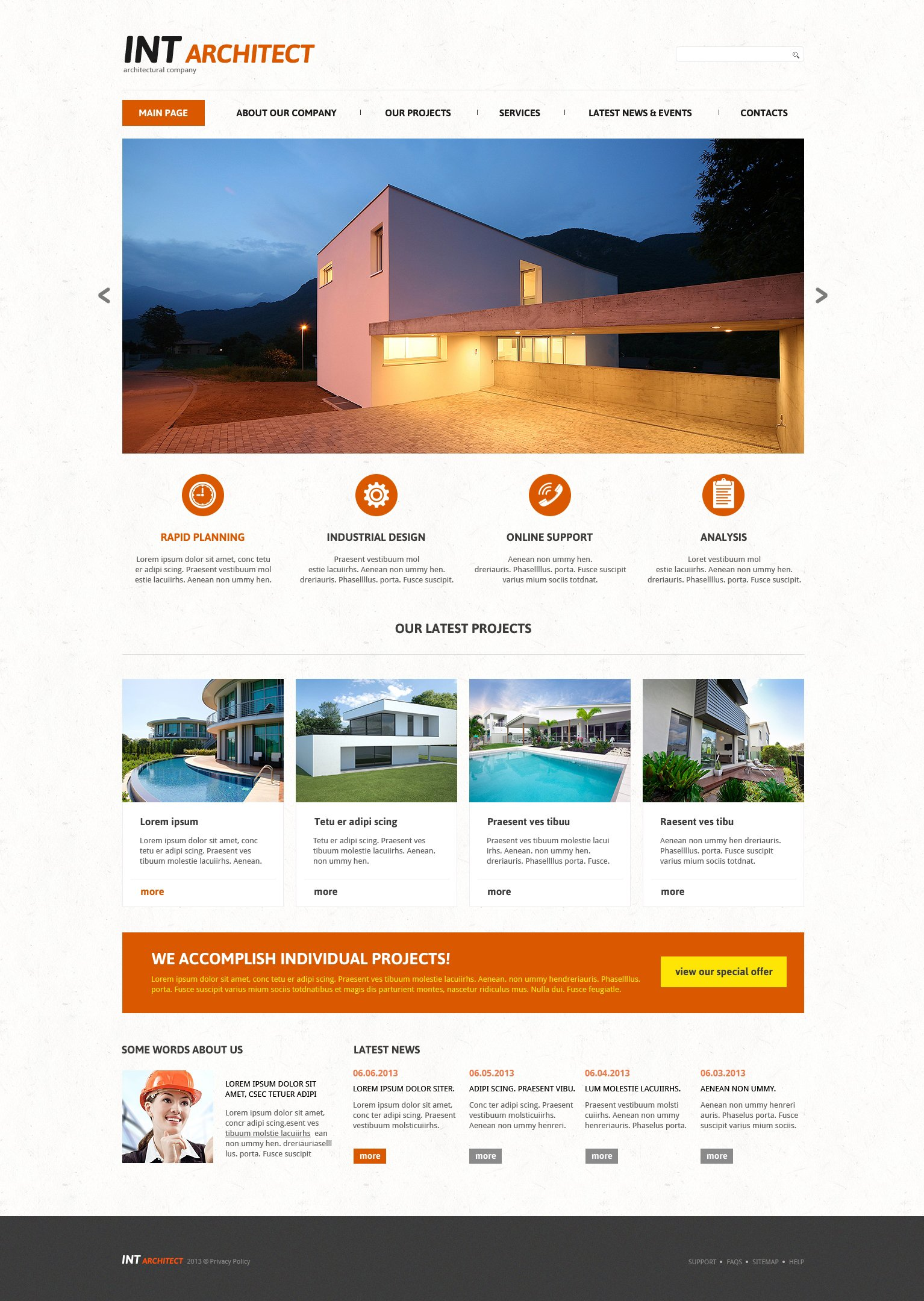 Architectural Agency Joomla Template - screenshot
