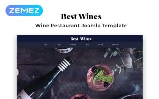 Best Wines - Wine Multipage Elegant Joomla Template