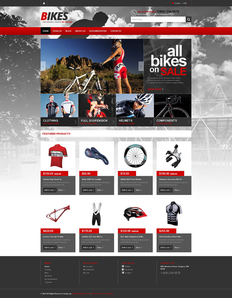 BMX Responsive Shopify Theme New Screenshots BIG