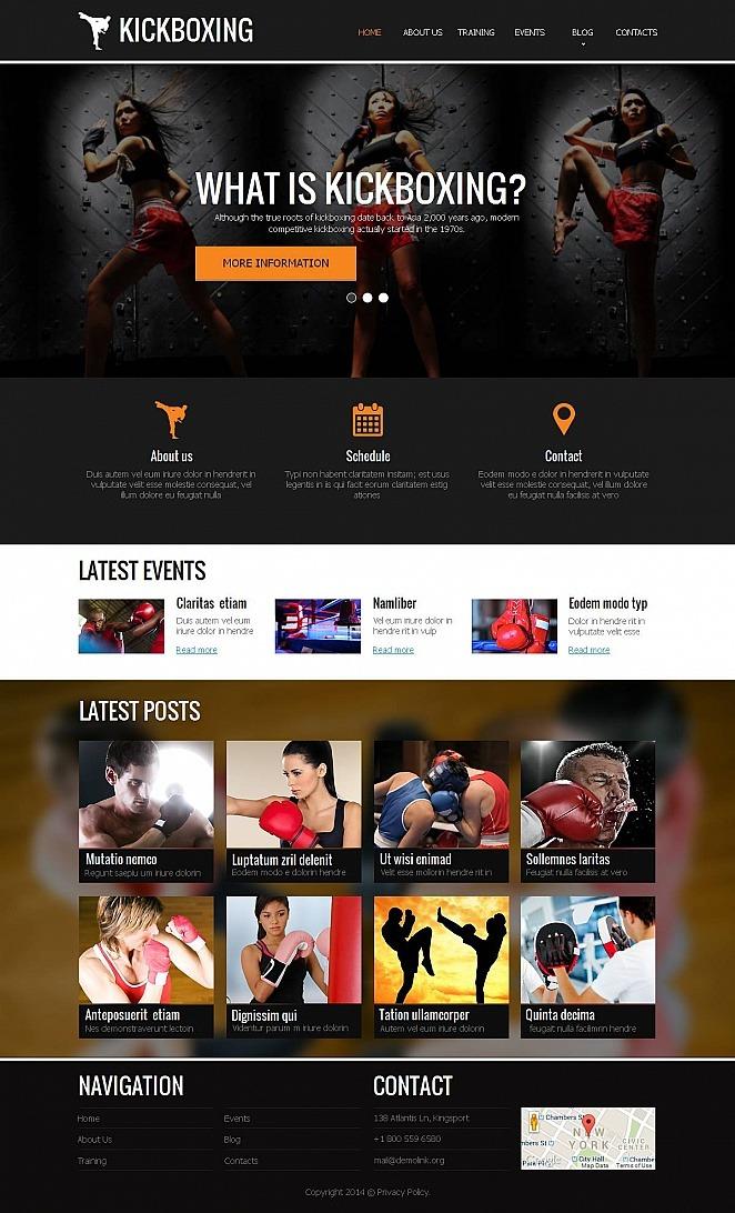 Boxing Moto CMS HTML Template New Screenshots BIG