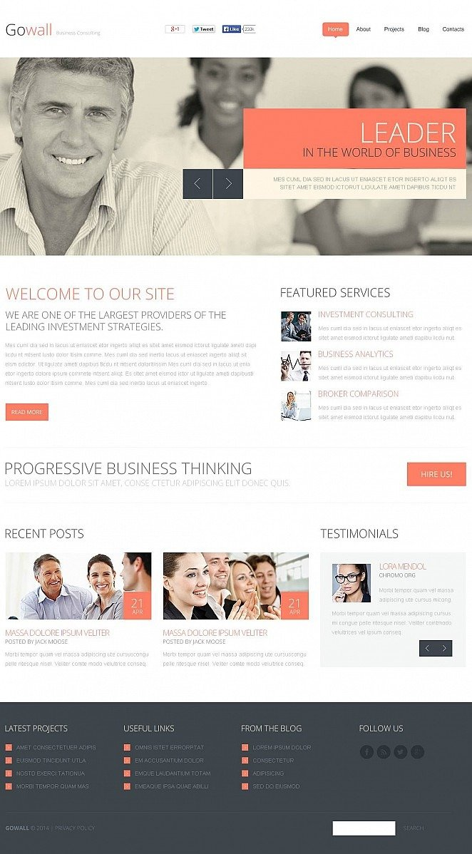 Consulting Flash CMS Template New Screenshots BIG