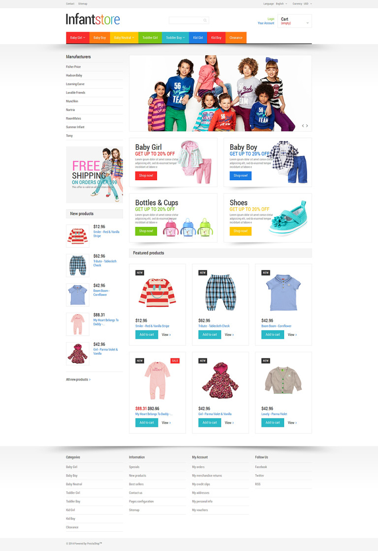 Everything for Infants PrestaShop Theme New Screenshots BIG