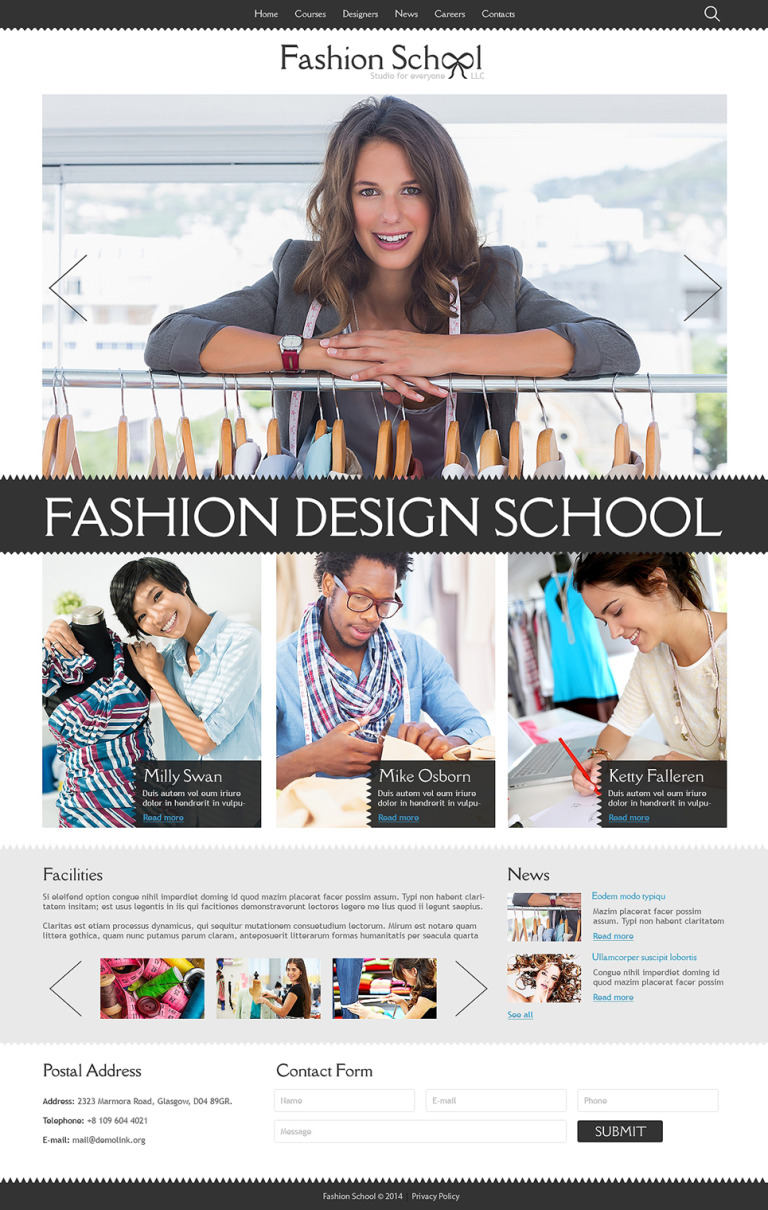 Fashion Designer Joomla Template New Screenshots BIG