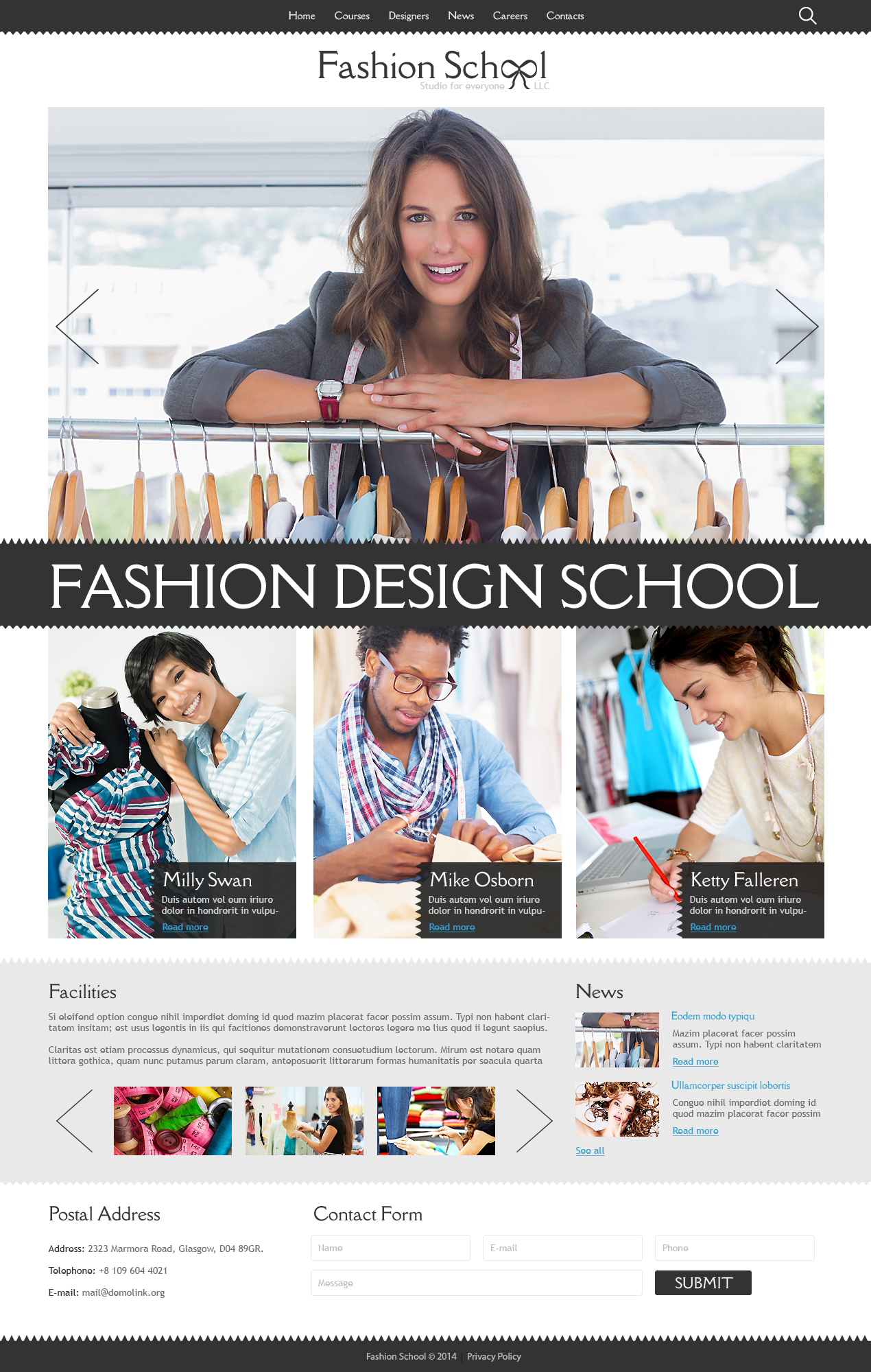 Fashion Designer Joomla Template - screenshot