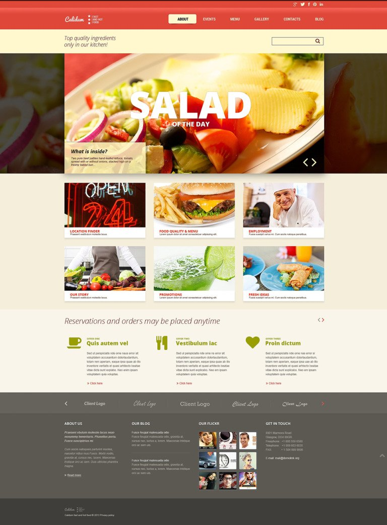 Fast Food Restaurant Responsive Joomla Template New Screenshots BIG