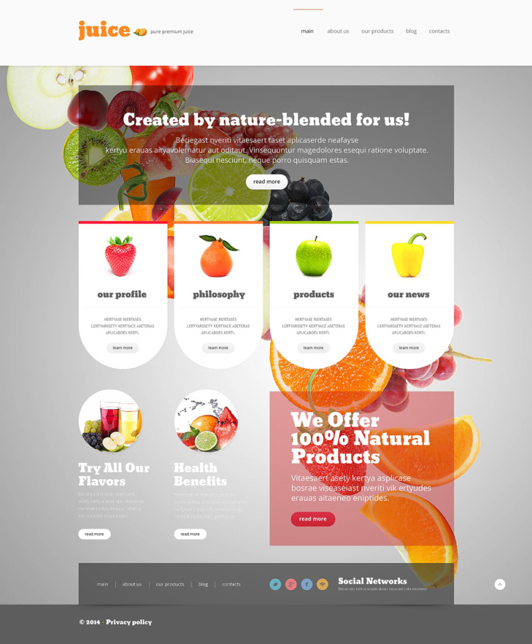 Healthy Eating Joomla Template New Screenshots BIG