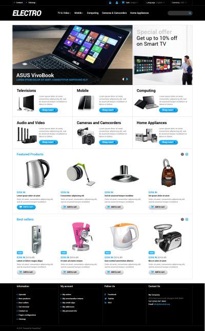 Home Electronics PrestaShop Theme #48286