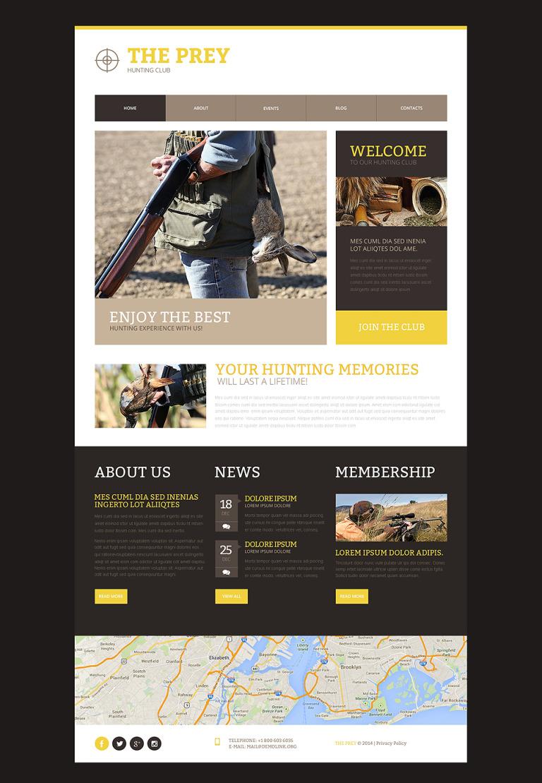 Hunting Responsive Website Template New Screenshots BIG