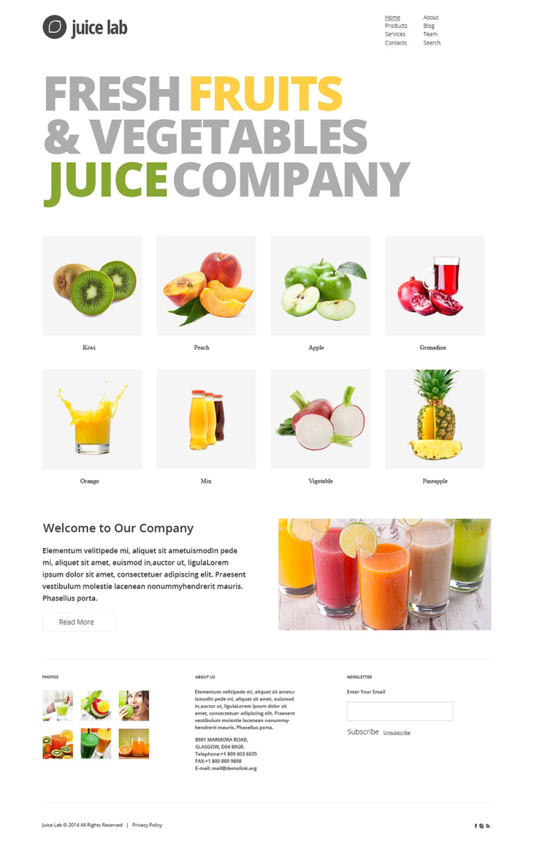 Juice Business Joomla Template New Screenshots BIG