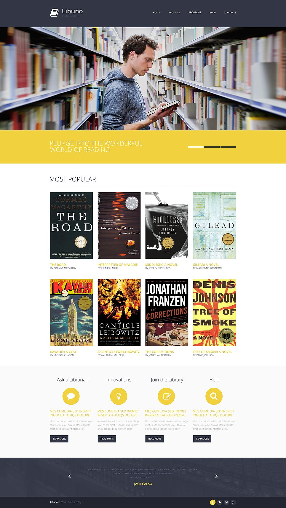 Book library website template akbaeenw book library website template toneelgroepblik Image collections