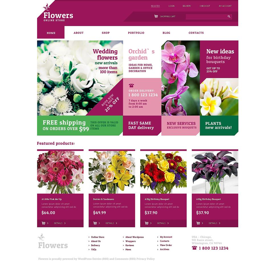 Live Flowers WooCommerce Theme #48243