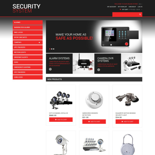 Security Systems - Magento Template based on Bootstrap