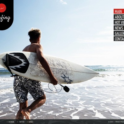 Surfing Moto CMS HTML šablona