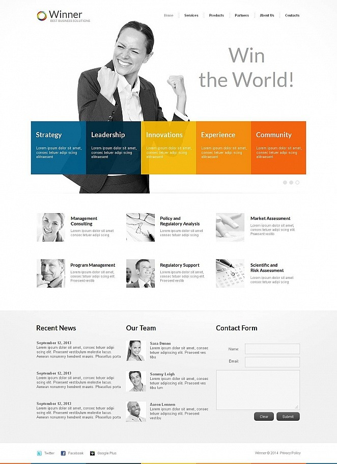 Management Company Moto CMS HTML Template New Screenshots BIG