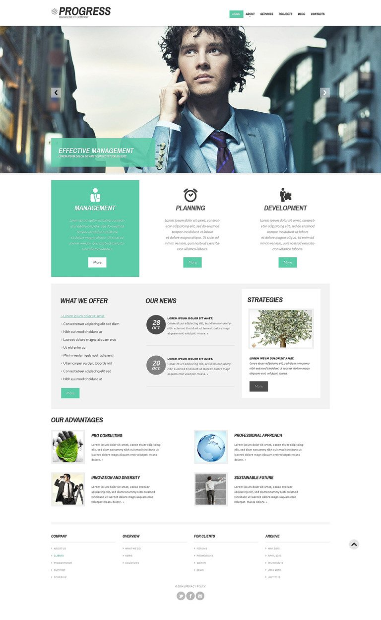 Management Company Responsive WordPress Theme New Screenshots BIG