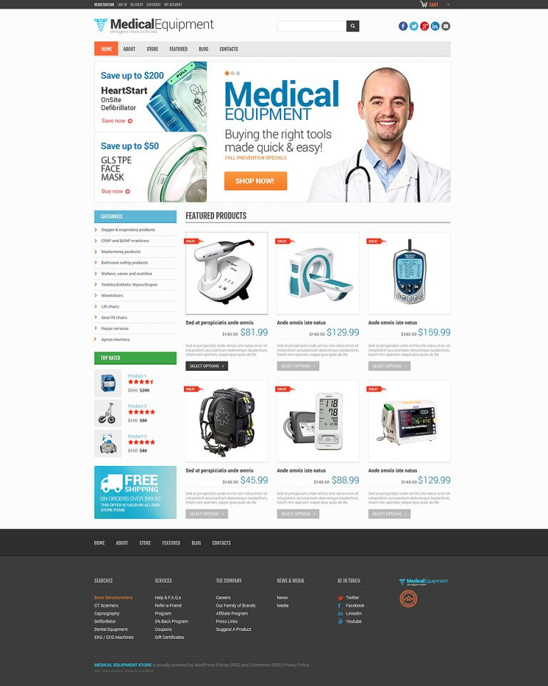 Medical Equipment Responsive WooCommerce Theme New Screenshots BIG