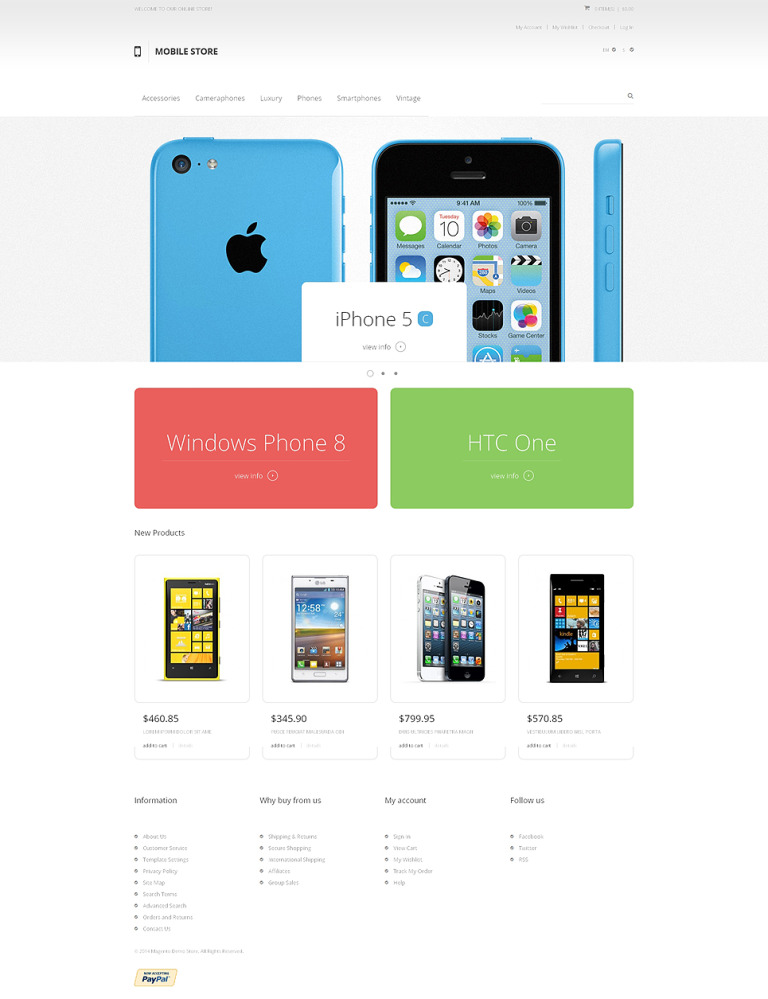 Mobile Heaven Magento Theme New Screenshots BIG