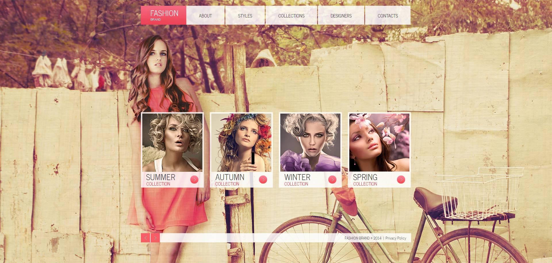 Modèle Moto CMS HTML Premium pour site de vêtements #48207