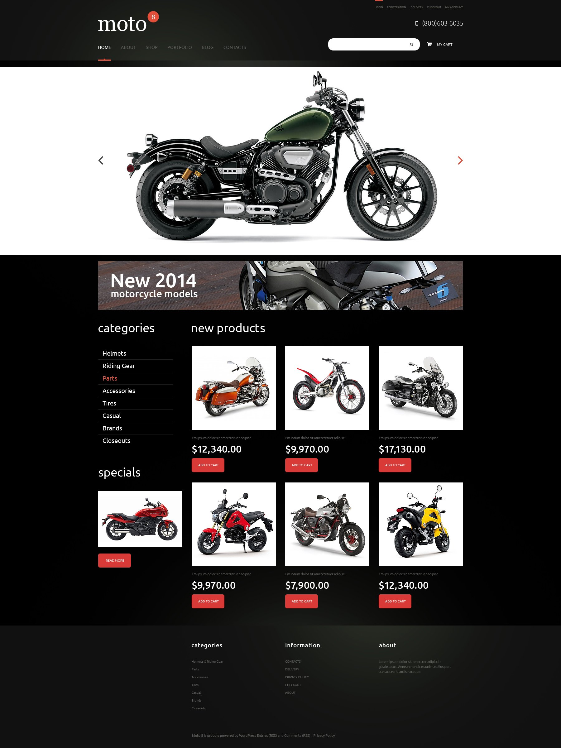 Motor Sports Responsive WooCommerce Theme